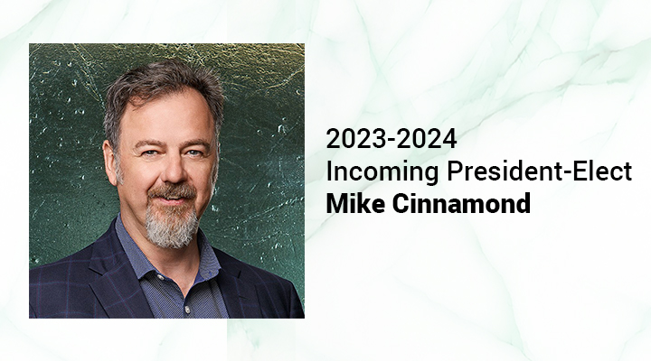 Michael Cinnamond selected as the CIM Incoming President-Elect 2023-2024